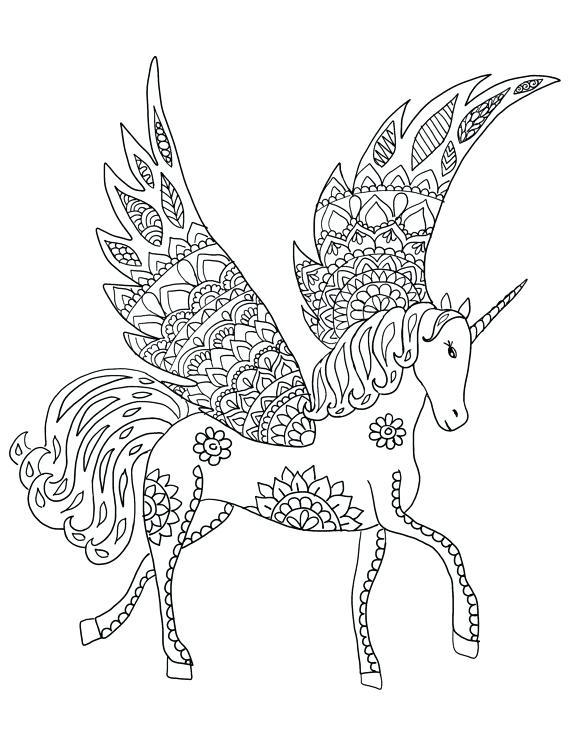 Mandalas de unicornios, caballos, kawaii para imprimir y colorear ...