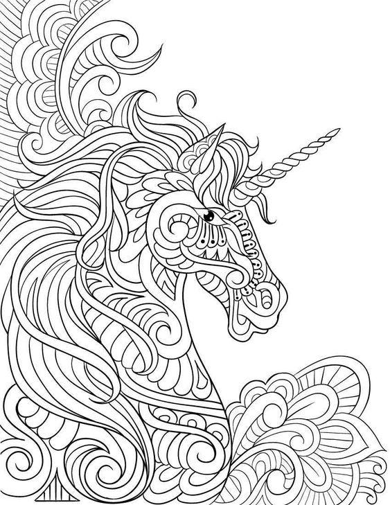 MANDALAS de unicornios kawaii