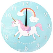 divertido reloj de pared unicornio