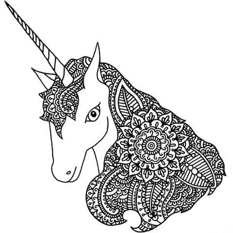 Mandalas De Unicornios Kawaii Para Imprimir Y Colorear2018