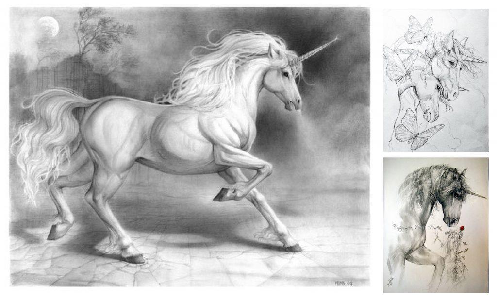 Imagenes De Unicornios A Lapiz Listos Para Imprimir Y Colorear 2018