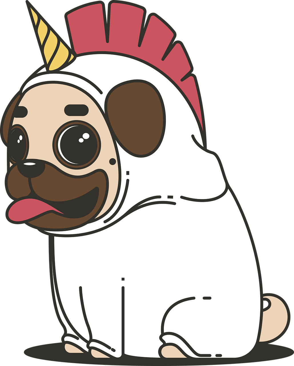 las mejores im u00e1genes de unicornios  animados  kawaii  mandalas  2018 French Bulldog Face Outline free clipart french bulldog