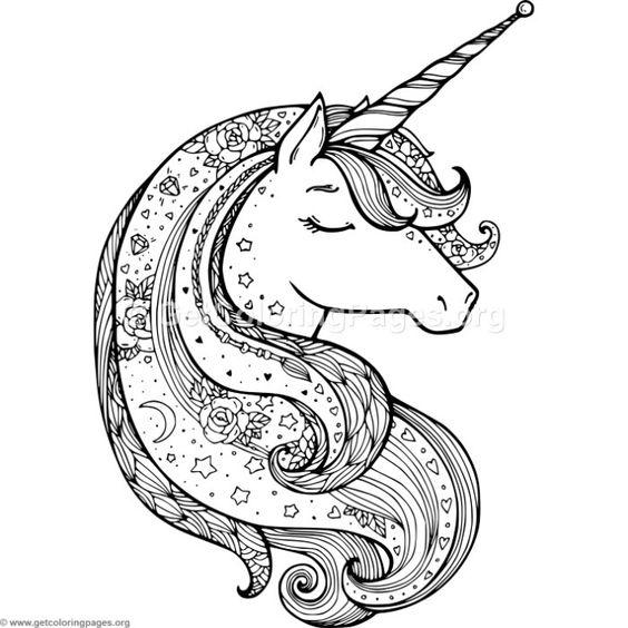 Mandalas De Unicornios Kawaii Para Imprimir Y Colorear 2018