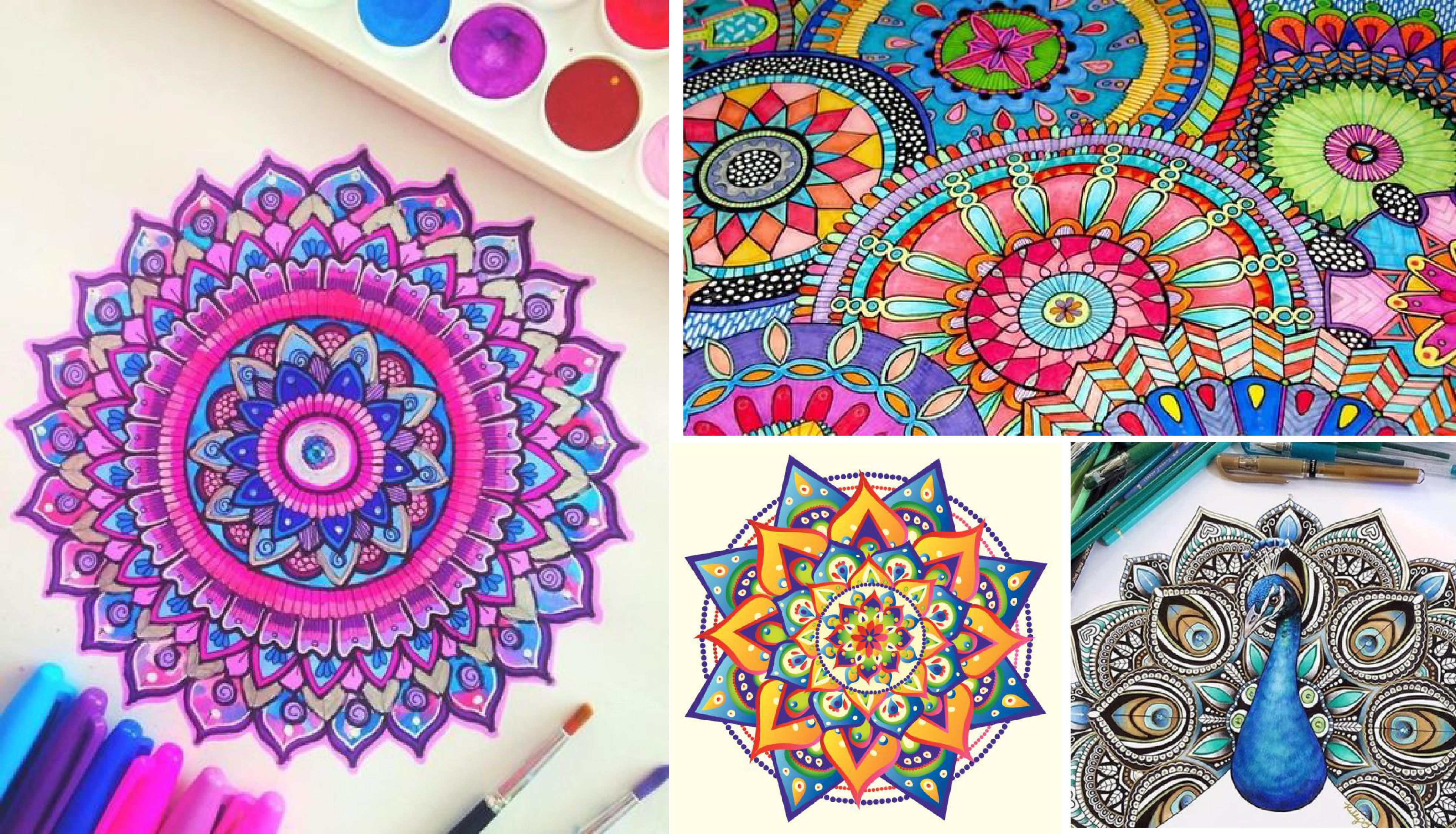 Dibujos Para Imprimir Y Colorear Mandalas: MANDALAS De Unicornios🦄 Kawaii Para Imprimir Y Colorear.[2018]