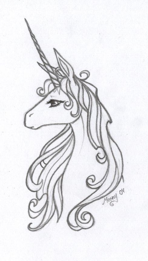 Imágenes de unicornios a lápiz listos para imprimir y ...