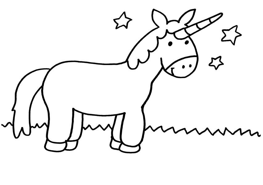 unicornio wonderful para colorear